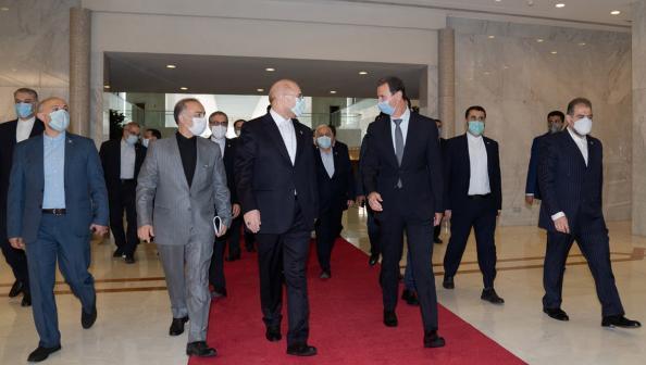 """بشار الأسد لـ""""باقر قاليباف"""": إيران شريك أساسي لنا"""