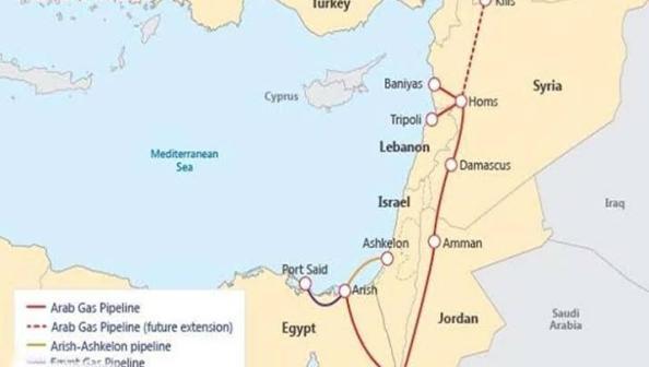 إسرائيلي وليس مصري.. حقيقة خط الغاز إلى لبنان عبر الأردن وسوريا