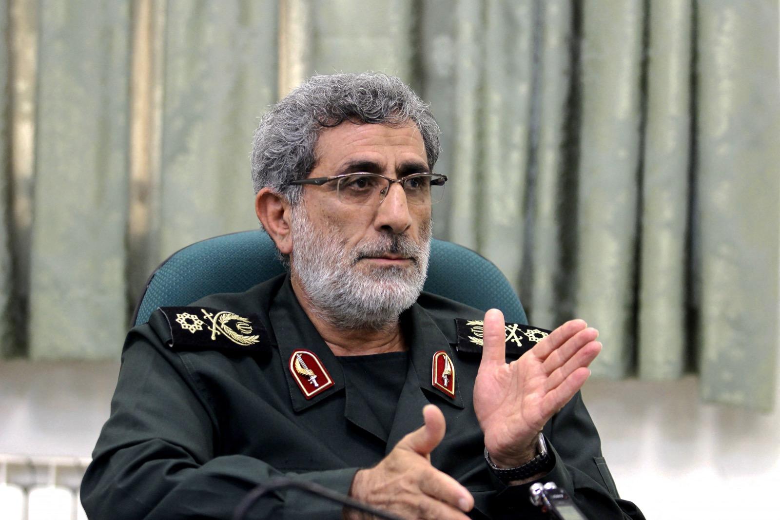 نفت كل من طهران وبغداد علنا وجود قآاني في العراق، لكن مصدرين إيرانيين اتصلت بهما رويترز أكدا ذلك